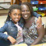A Trinity 4th grader and her mother settle in to Mrs. Sanders' class.